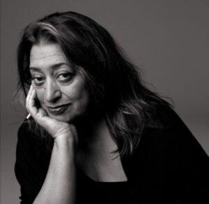 Retrato de Zaha Hadid